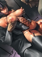 Anime babes with raging cocks